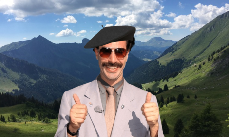 In France, I may be Borat! Up-Stix james and learning French