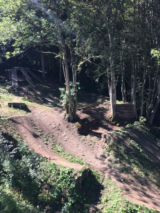 Part of the 'Slopestyle' section at Bernex bike park.