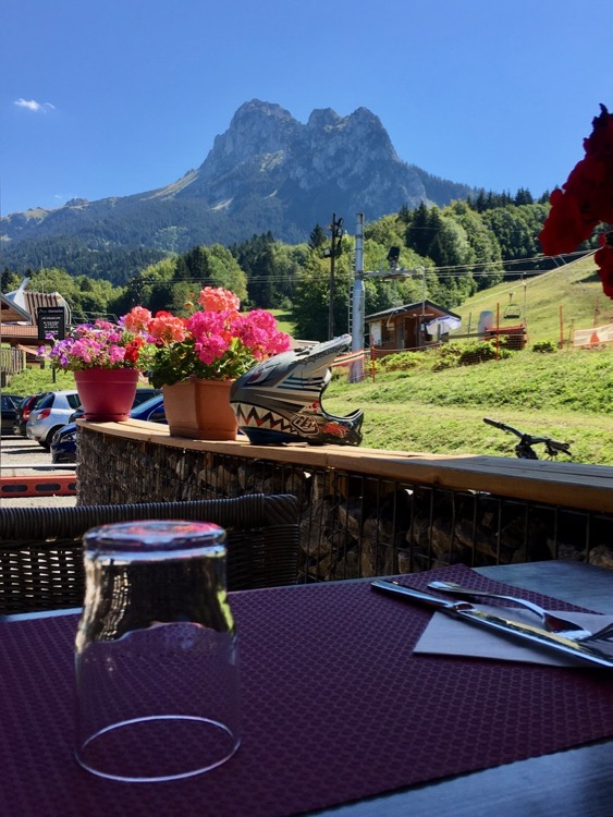 Tasty, good-value lunch with a view at L'Auberge de la Pallurd, Bernex.