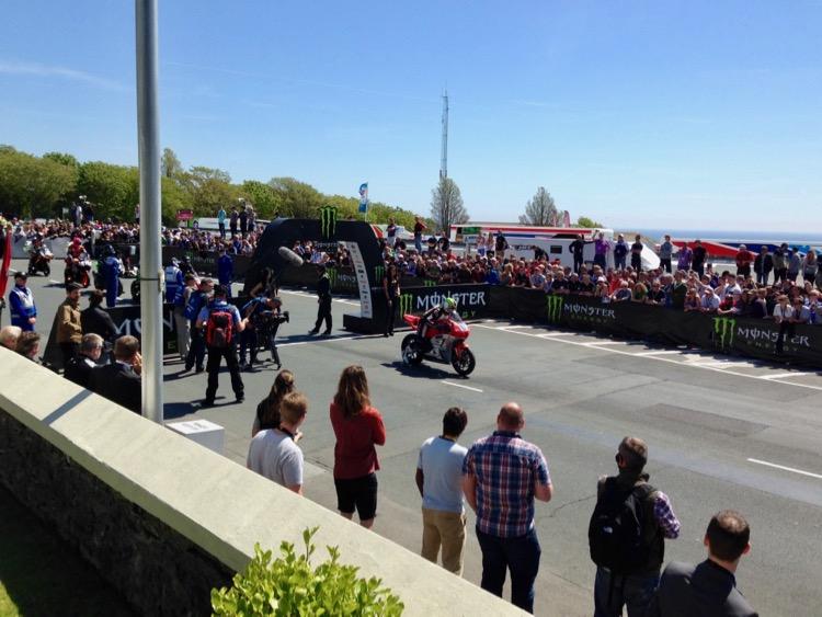 Isle of Man TT start line.