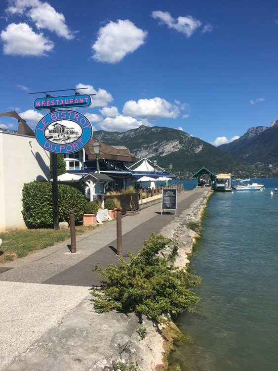 Le Bistro du Port, Server, Lake Annecy. Yum!