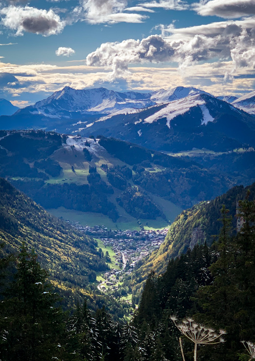 Morzine from Avoriaz with Pleney, Mont Chery and Marcelly beyond.