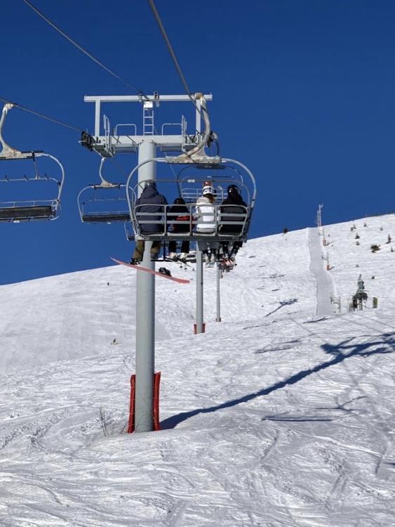 De La Pointe chairlift, Mont Chery, Les Gets. Up-Stix Images