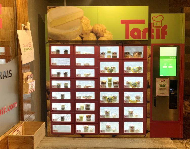 Tartif vending machine in Les Gets.
