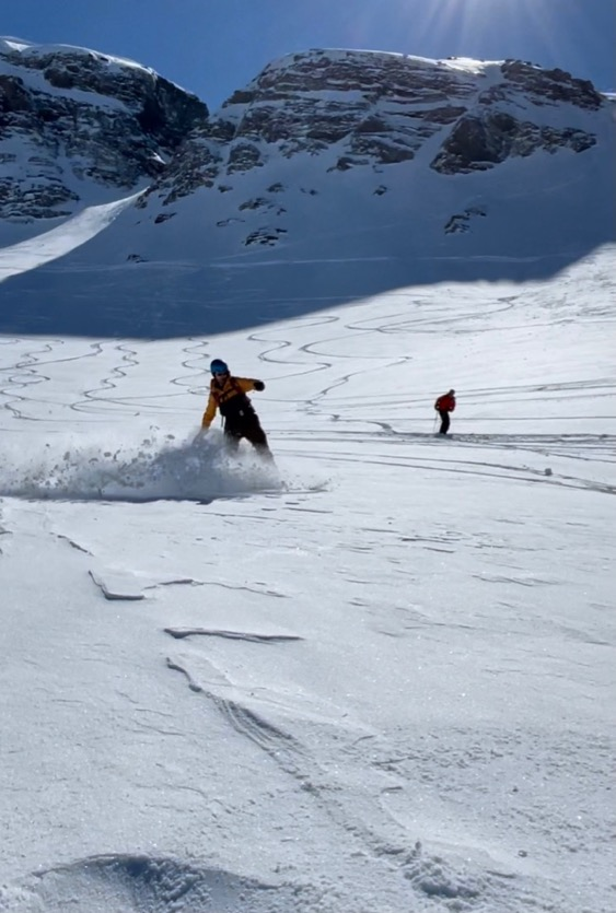 Les Crozats freeride area, Avoriaz. March 2021.