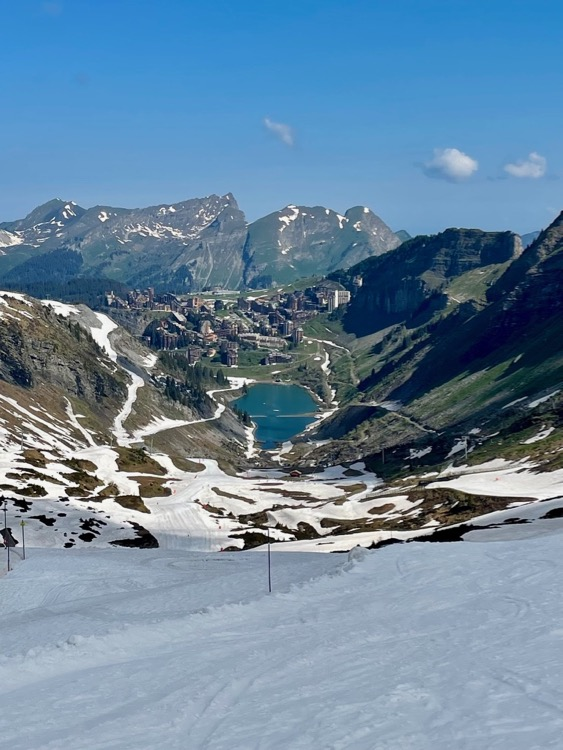 Avoriaz in summer taken from the Forent bowl on a ski and bike weekend.