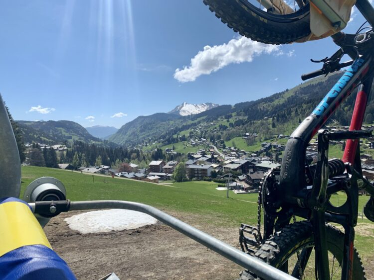 View from the Chavannes Chairlift in Les Gets Bike Park.