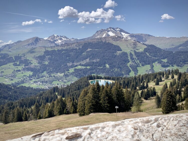 View from the top of the Nauchets lift in Les Gets Bike Park - Summer 2021