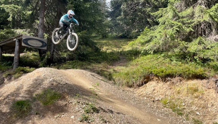 Is mountain biking the best sport ever? Little T - 10 years old and ticking the Avoriaz Oakley drop off his 'to-do' list.